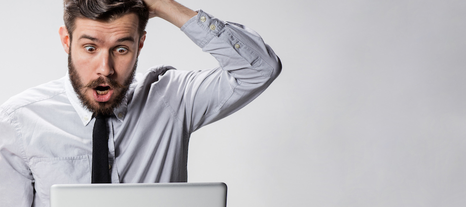 A man reacts to the large cost of his website project